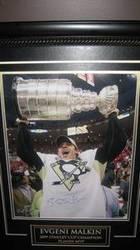 Autographed Evgeni Malkin 2009 Stanley Cup MVP Framed
