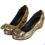 Prada news leather in snake casual shoes 028 gold