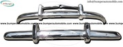 Volvo PV 444 bumper kit (1947-1958) stainless steel