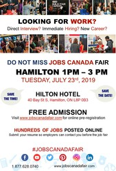 Hamilton Job Fair - July 23rd,  2019