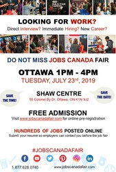 Ottawa Job Fair - July 23rd,  2019